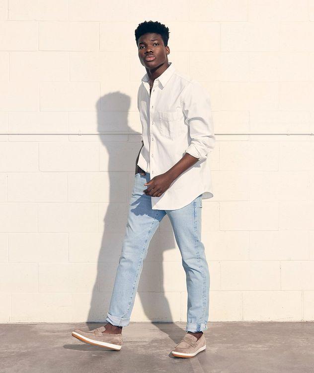 The Everett Slim Straight Stretch-Denim Jeans picture 2