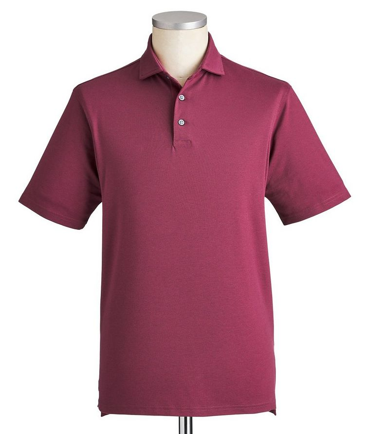 Quick-Dry Stretch-Cotton Polo image 0