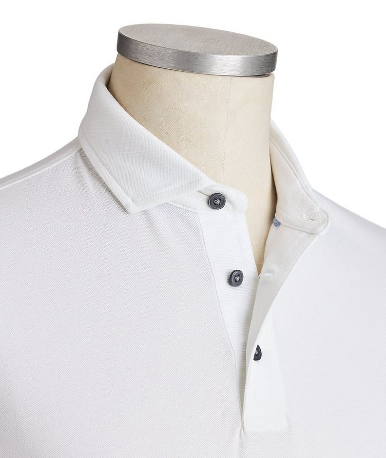 Quick-Dry Stretch-Cotton Polo image 1