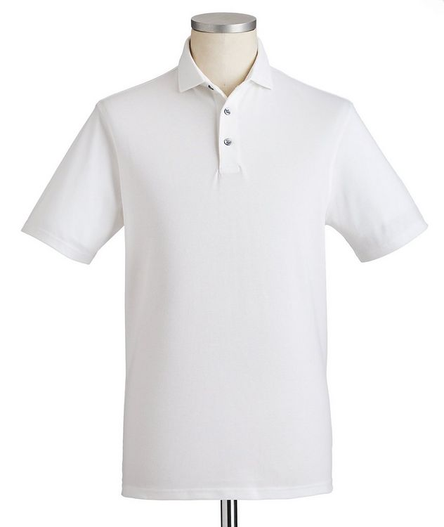 Quick-Dry Stretch-Cotton Polo picture 1