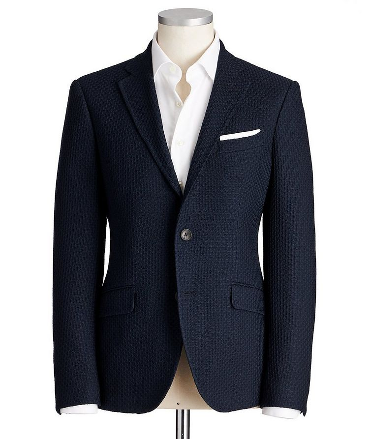 Checked Cotton Sports Jacket image 0