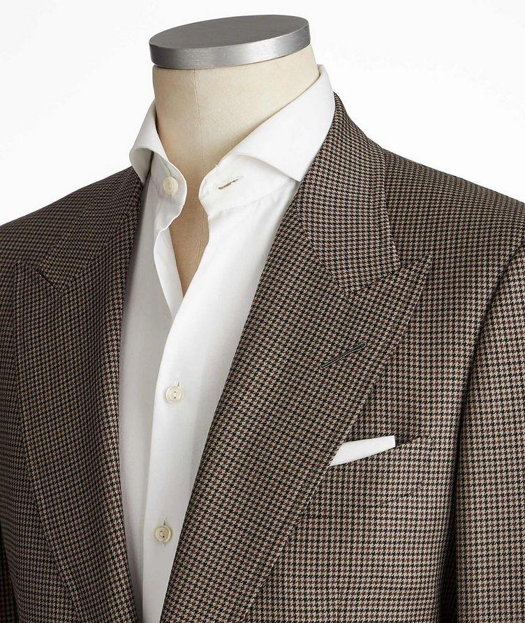 Shelton Houndstooth Wool-Silk Sports Jacket image 1
