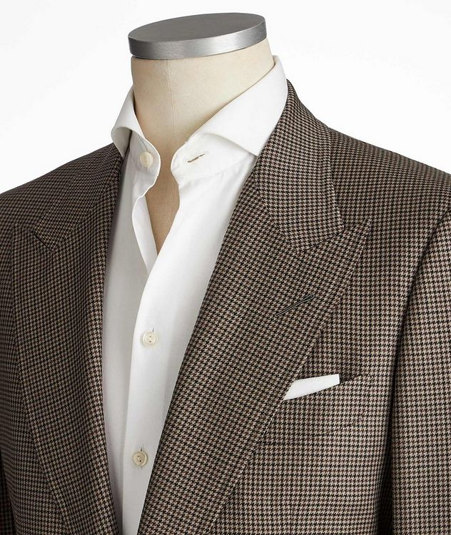 Shelton Houndstooth Wool-Silk Sports Jacket picture 2