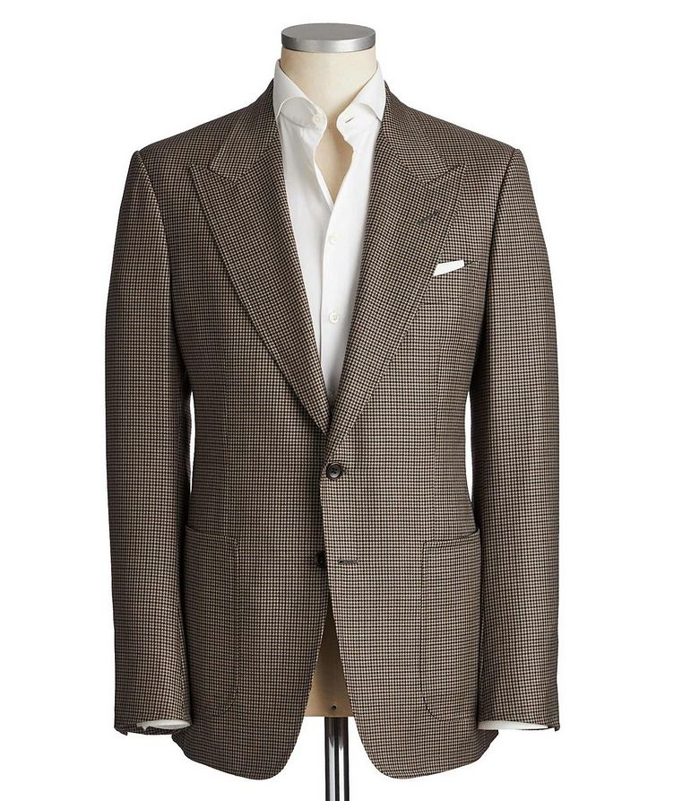 Shelton Houndstooth Wool-Silk Sports Jacket image 0