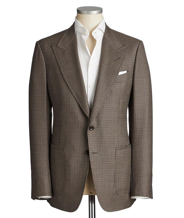 Shelton Houndstooth Wool-Silk Sports Jacket picture 1