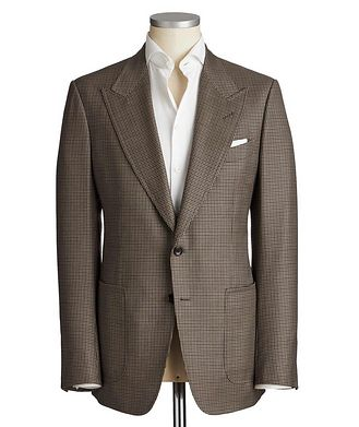 TOM FORD Shelton Houndstooth Wool-Silk Sports Jacket