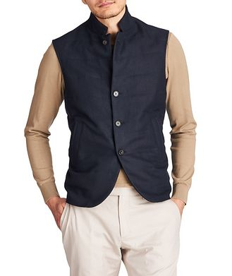 Loro Piana Quilted Linen Vest
