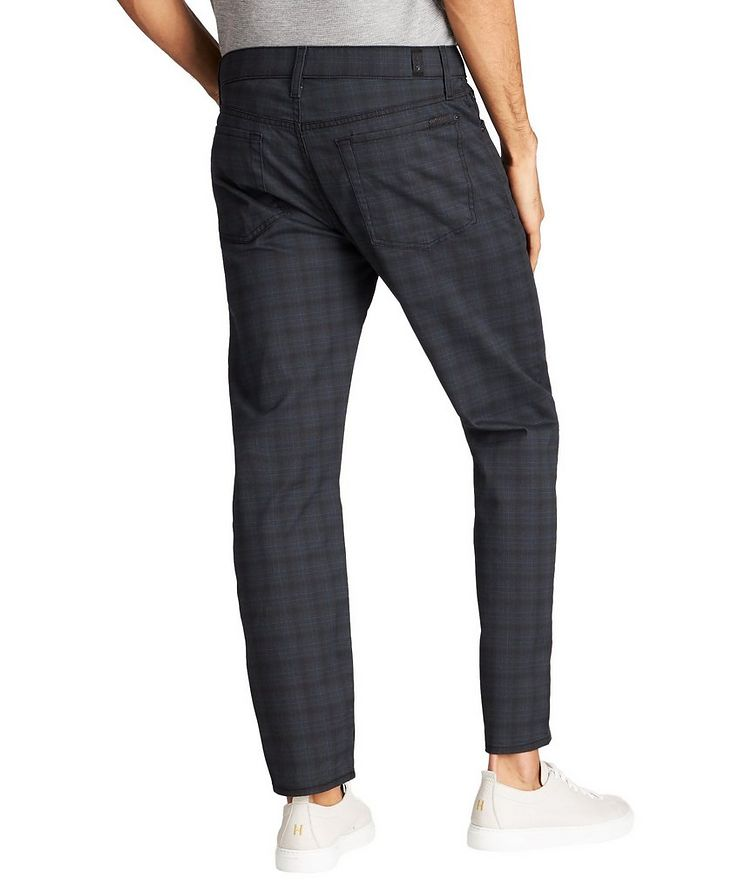 Adrien Windowpane-Checked Slim Fit Jeans image 1