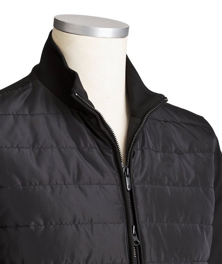 Zip-Up Stretch-Blend Sweatshirt image 1