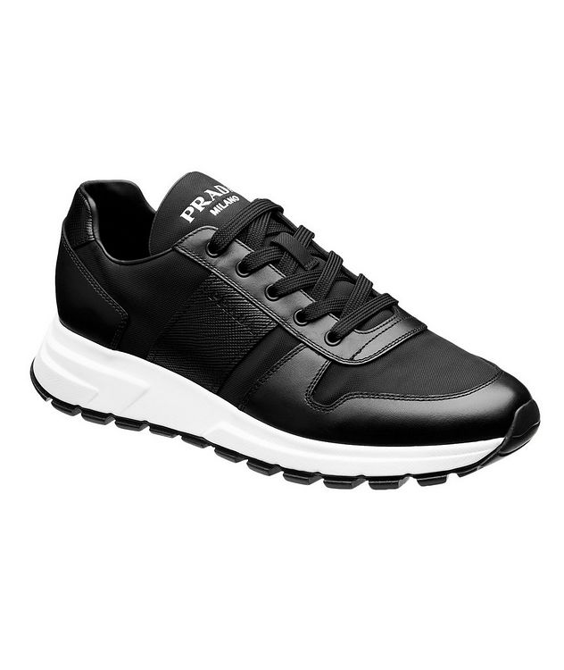 Match Race Leather & Nylon Sneakers  picture 1