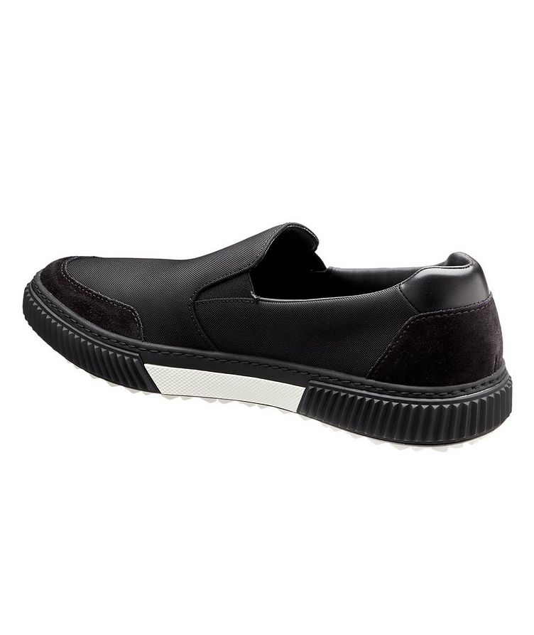 Suede & Leather Slip-On Sneakers image 1