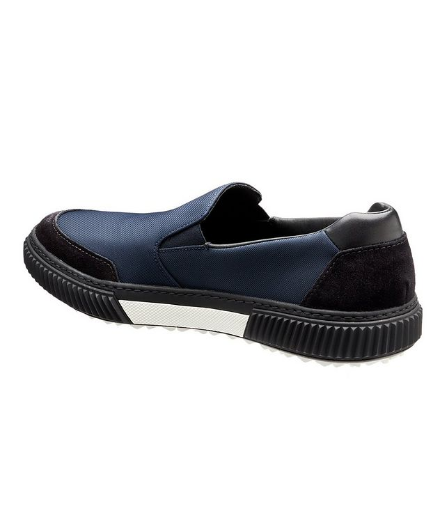 Suede & Leather Slip-On Sneakers picture 2