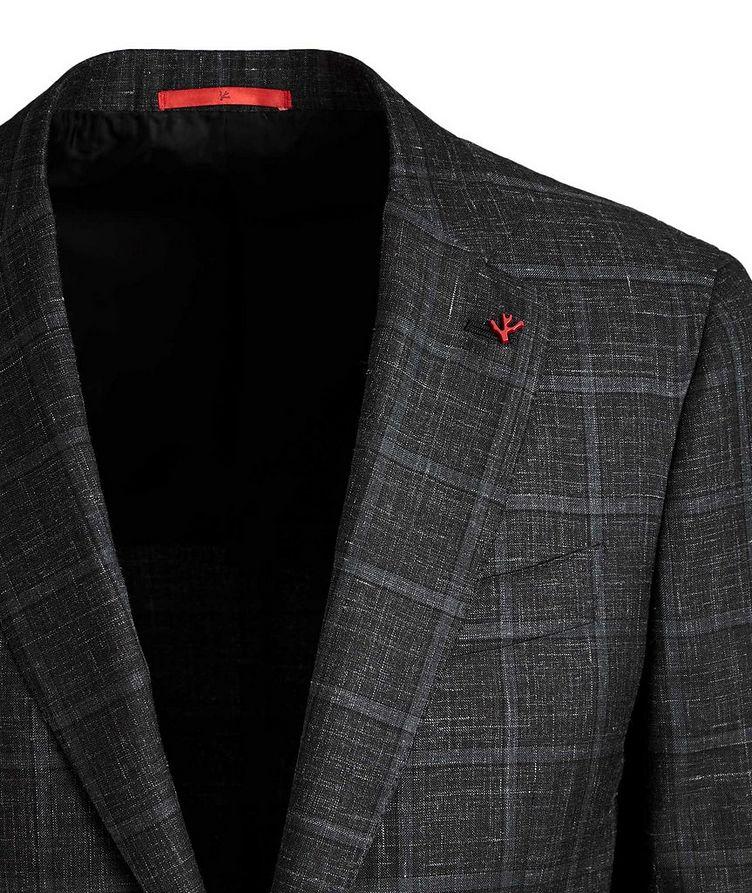 Windowpane Checked Cashmere, Silk & Linen Sports Jacket image 1