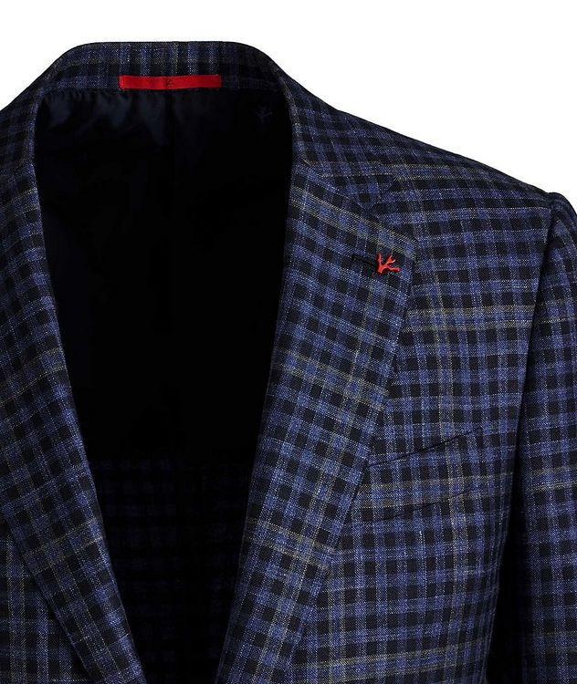 Windowpane & Gingham Checked Wool, Cashmere, Silk & Linen Sports Jacket picture 2
