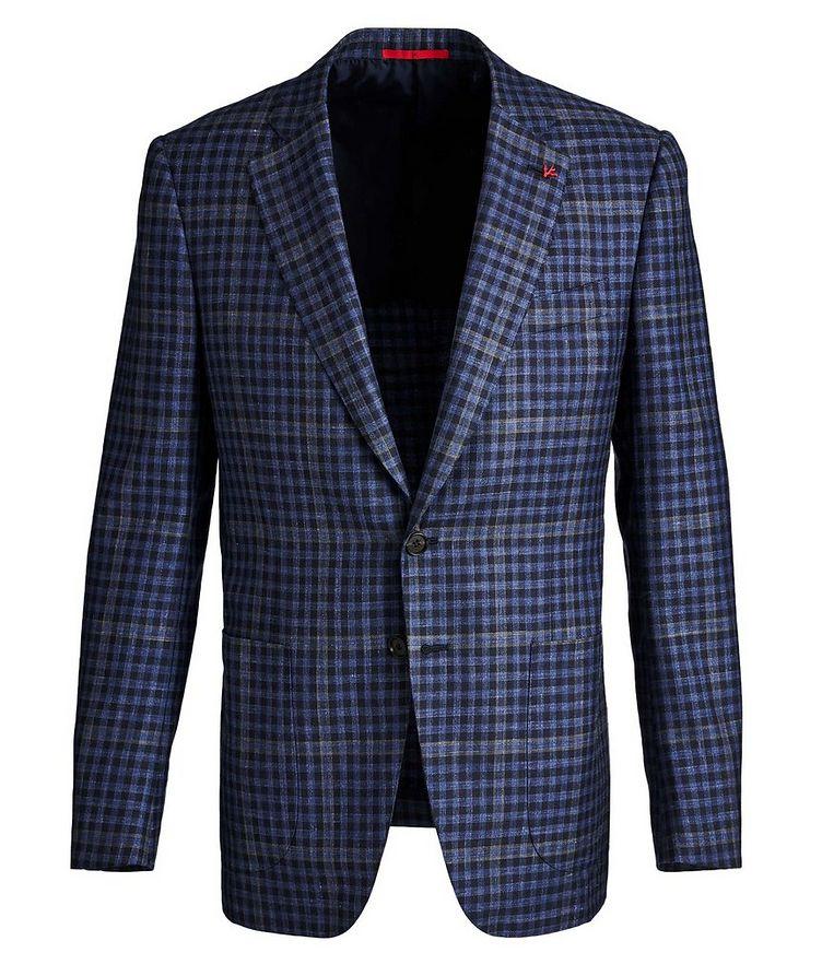 Windowpane & Gingham Checked Wool, Cashmere, Silk & Linen Sports Jacket image 0