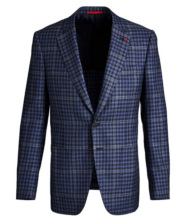 Windowpane & Gingham Checked Wool, Cashmere, Silk & Linen Sports Jacket picture 1
