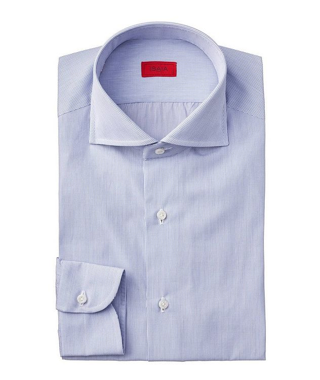 Contemporary Fit Grid Checked Dress Shirt picture 1