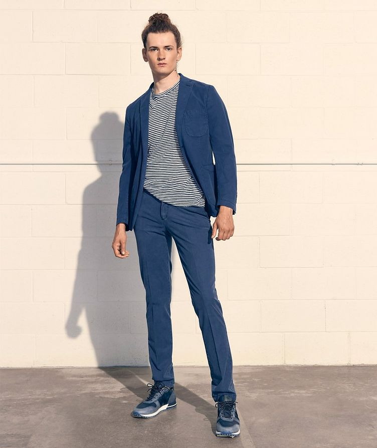 Unstructured Stretch-Cotton Sports Jacket image 1