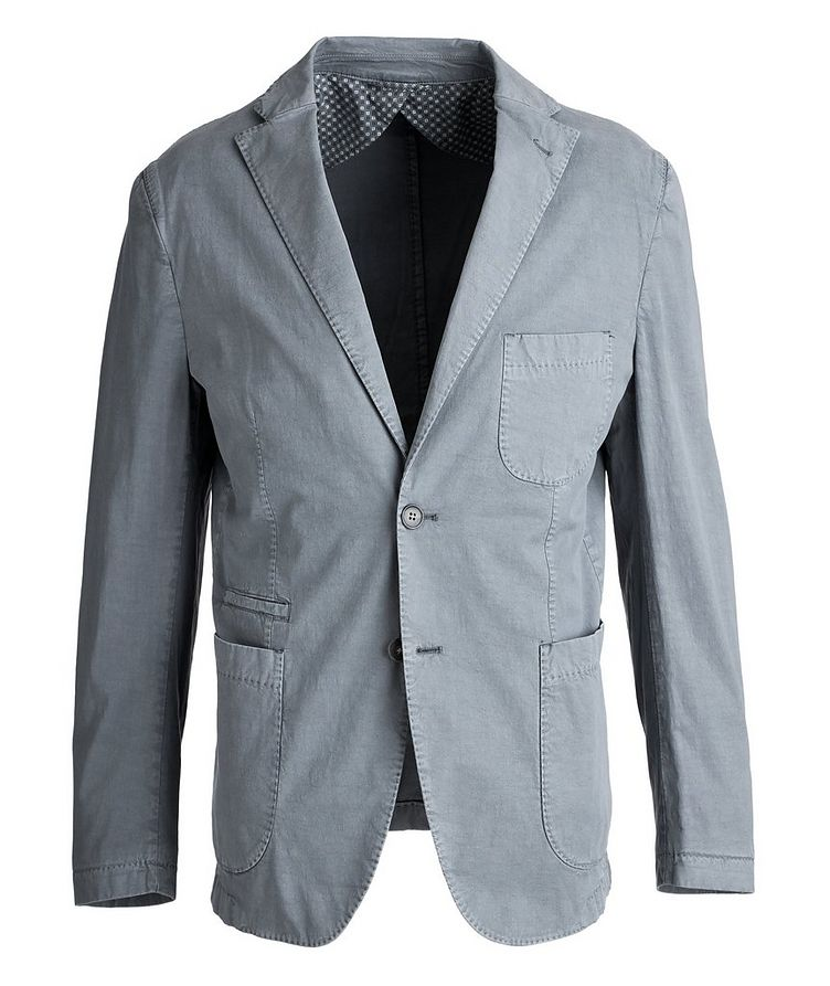 Unstructured Stretch-Cotton Sports Jacket image 0