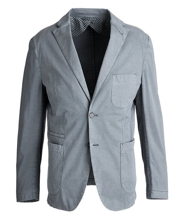 Unstructured Stretch-Cotton Sports Jacket picture 1