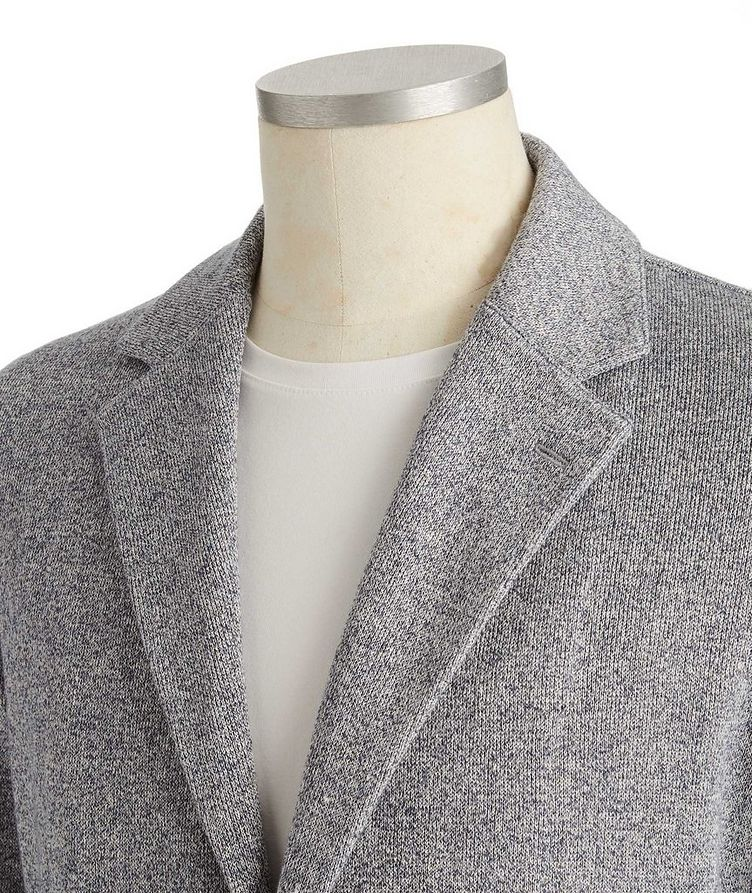 Cotton-Linen Sweater Jacket image 1
