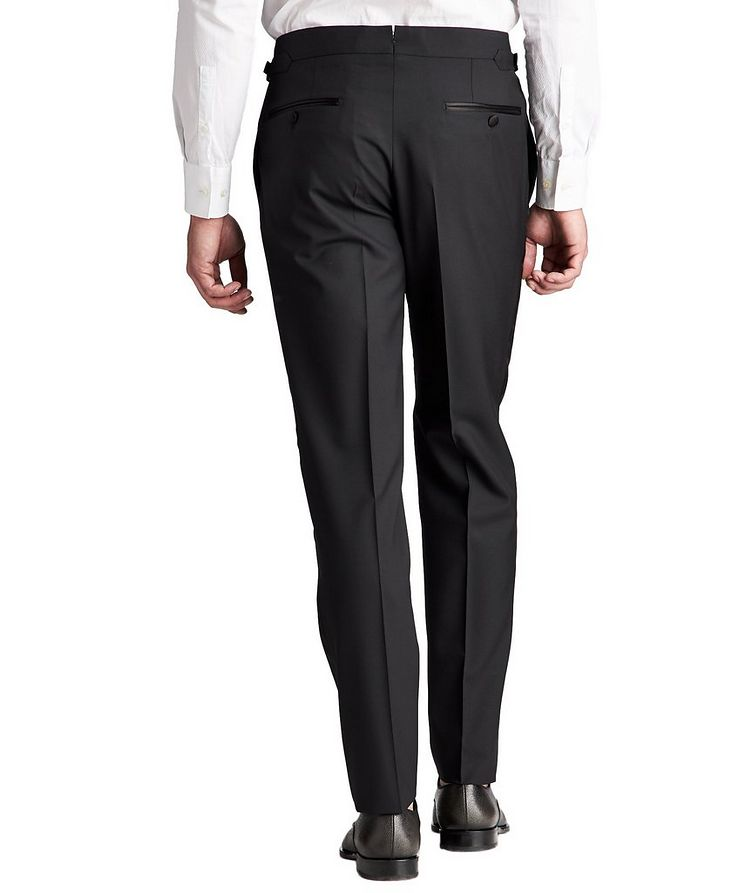 Slim Fit Wool Tuxedo Pants image 1