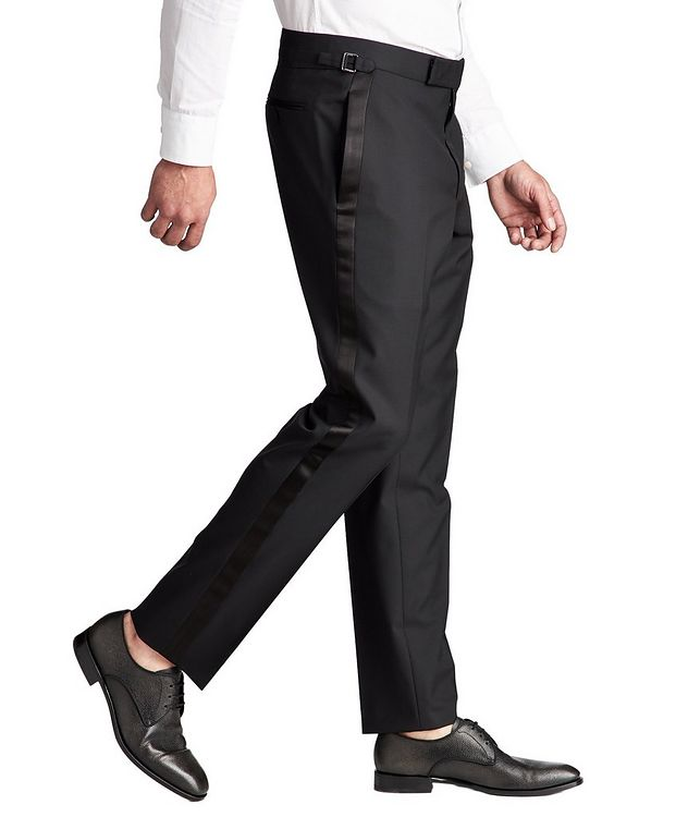 Slim Fit Wool Tuxedo Pants picture 4