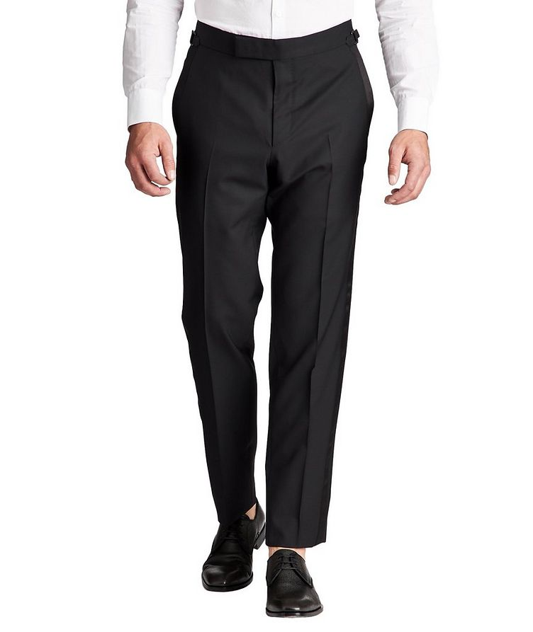 Slim Fit Wool Tuxedo Pants image 0