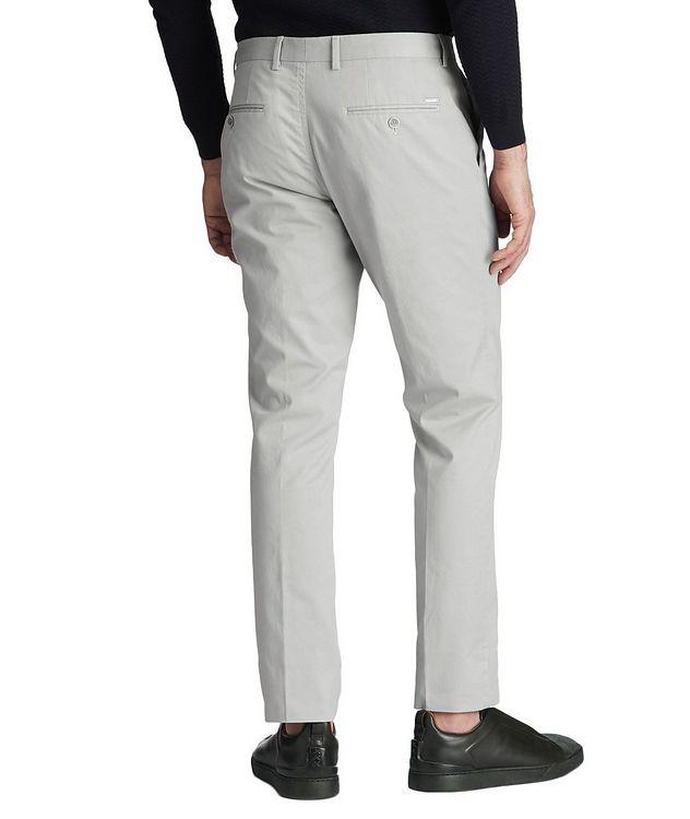 Pantalon habillé en coton extensible de coupe amincie picture 2