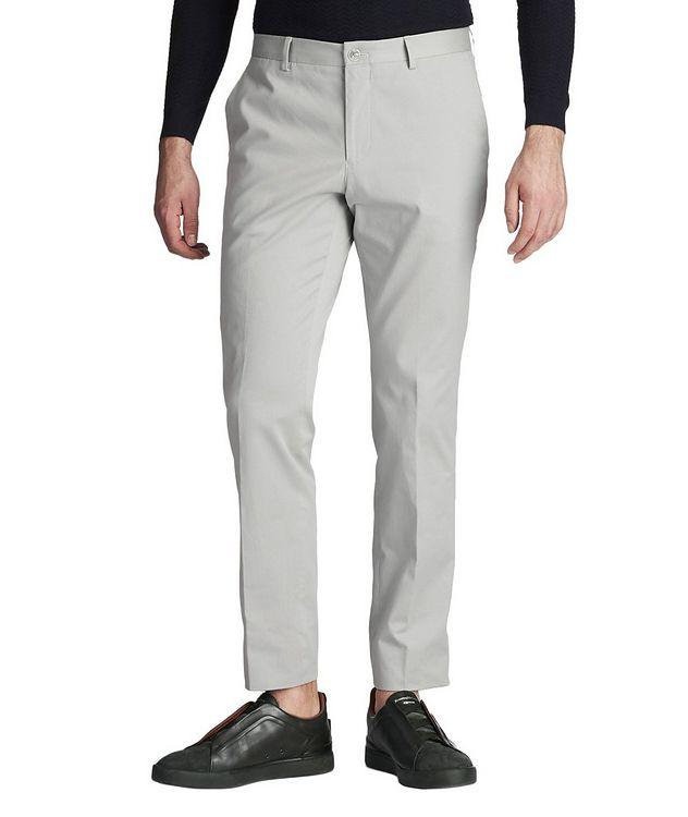 Pantalon habillé en coton extensible de coupe amincie picture 1