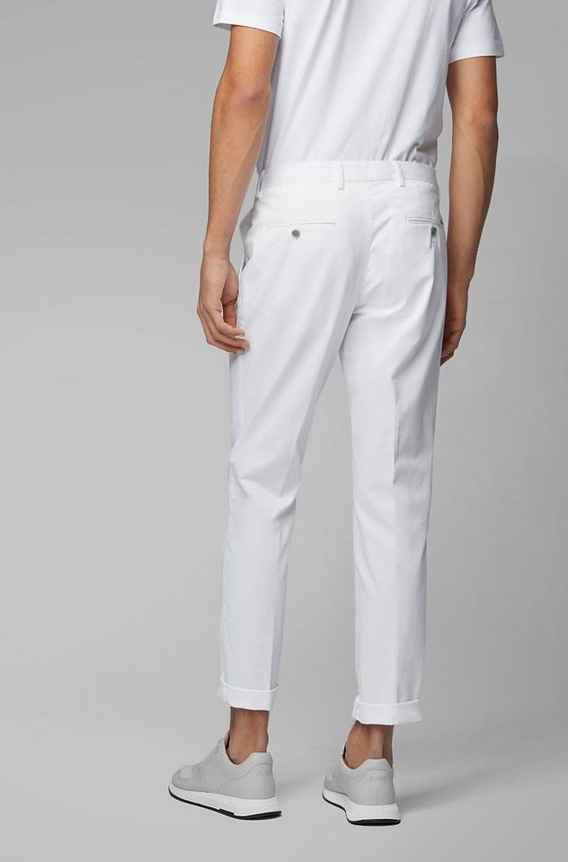 Slim Fit Stretch-Cotton Dress Pants picture 4