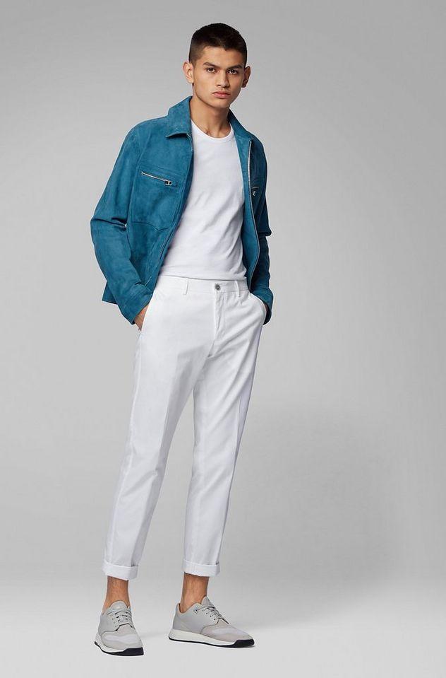 Slim Fit Stretch-Cotton Dress Pants picture 5