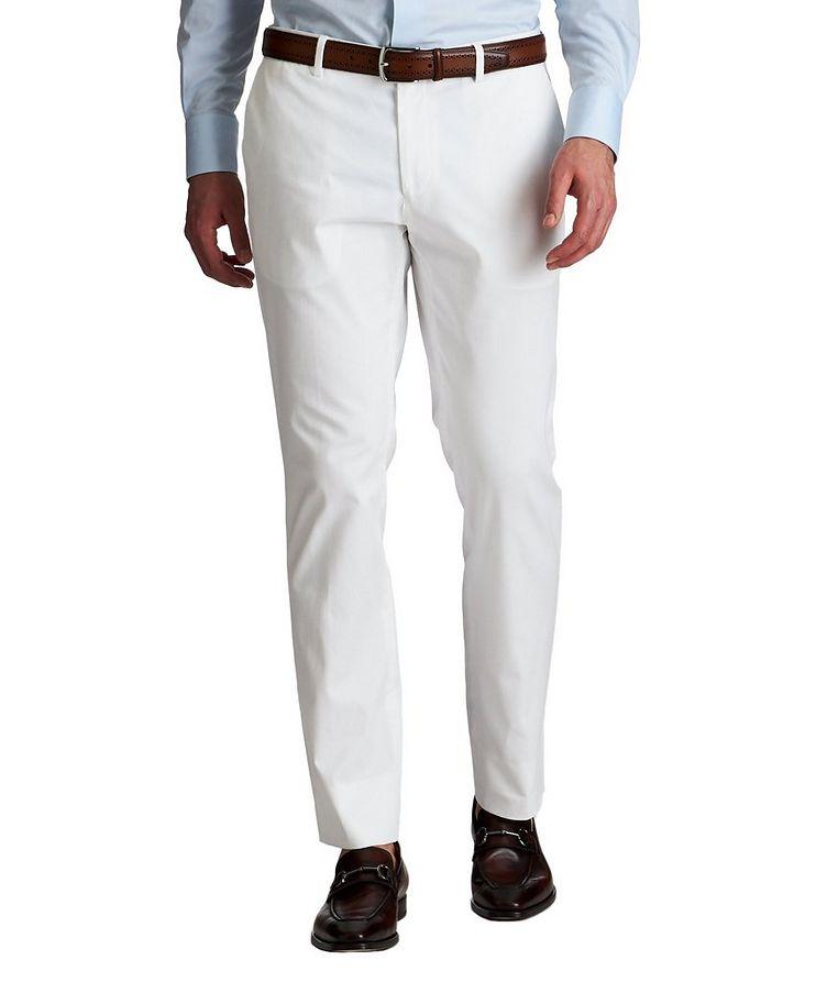 Slim Fit Stretch-Cotton Dress Pants image 0