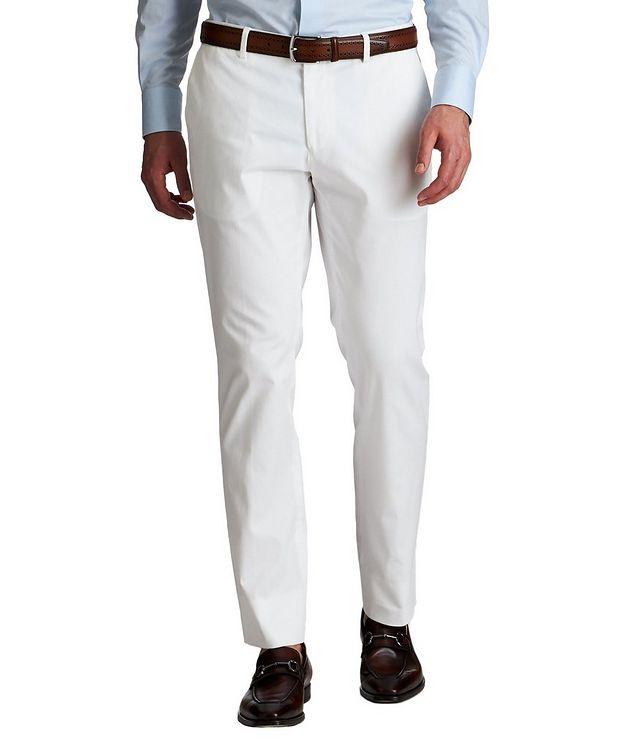 Slim Fit Stretch-Cotton Dress Pants picture 1