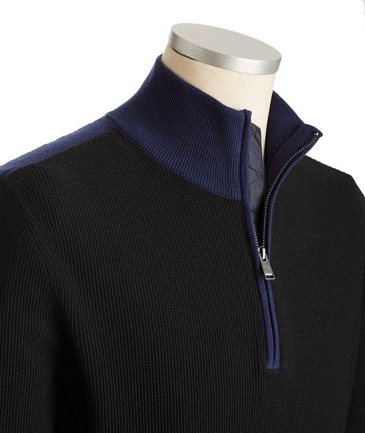 Half-Zip Cotton-Wool Sweater image 1