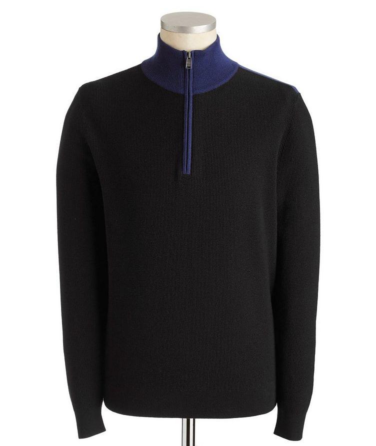 Half-Zip Cotton-Wool Sweater image 0