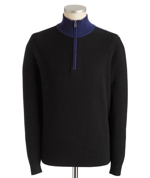 Half-Zip Cotton-Wool Sweater picture 1