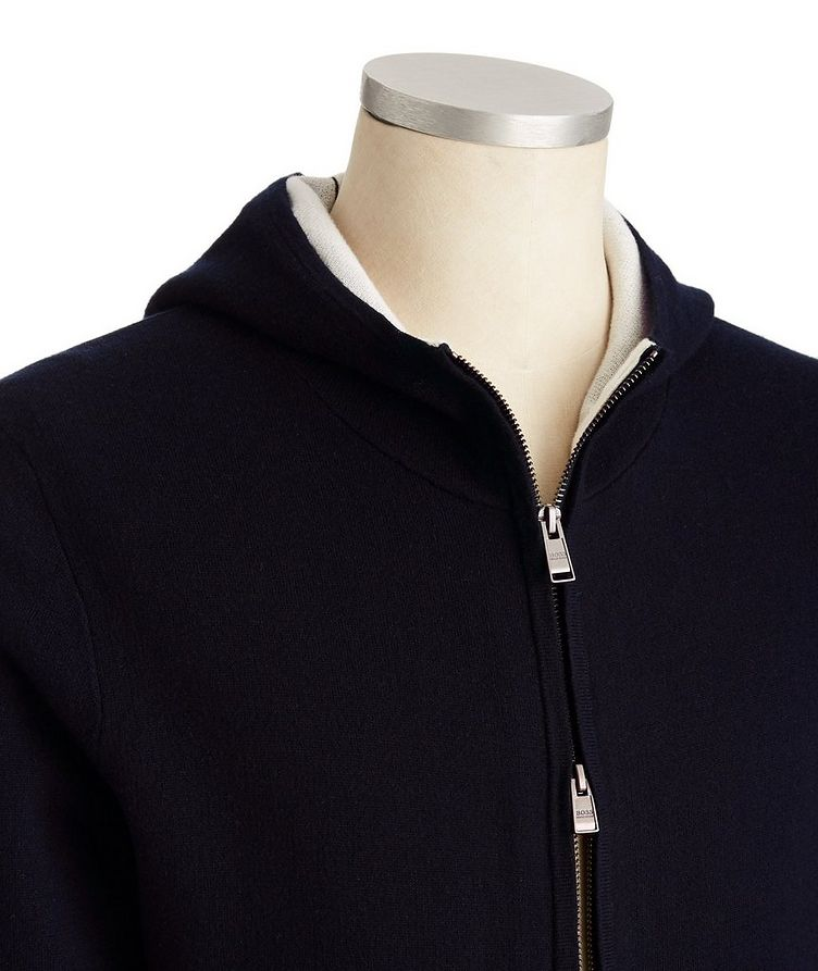 Zip-Up Cotton, Wool & Cashmere Hoodie image 1