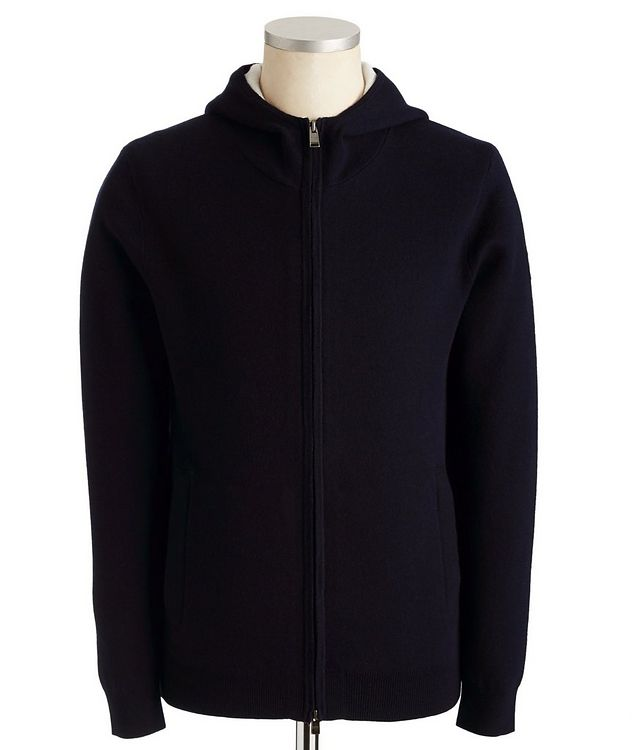 Zip-Up Cotton, Wool & Cashmere Hoodie picture 1