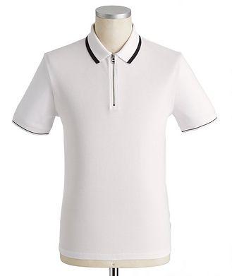 BOSS Half-Zip Cotton Polo