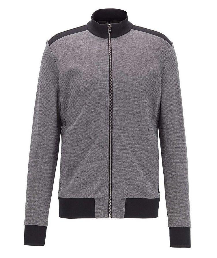 Zip-Up Cotton-Blend Sweatshirt image 0