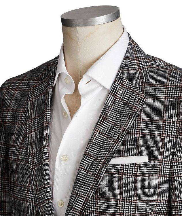 Hartlay1 Checked Linen-Wool Sports Jacket picture 2