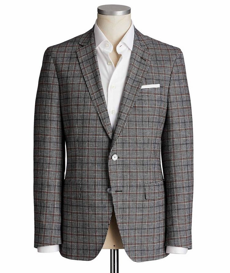 Hartlay1 Checked Linen-Wool Sports Jacket image 0