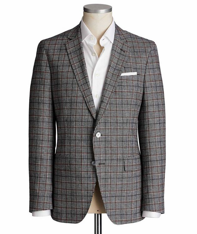 Hartlay1 Checked Linen-Wool Sports Jacket picture 1