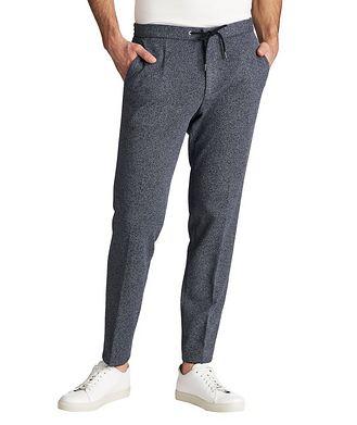 BOSS Drawstring Cotton-Blend Dress Pants