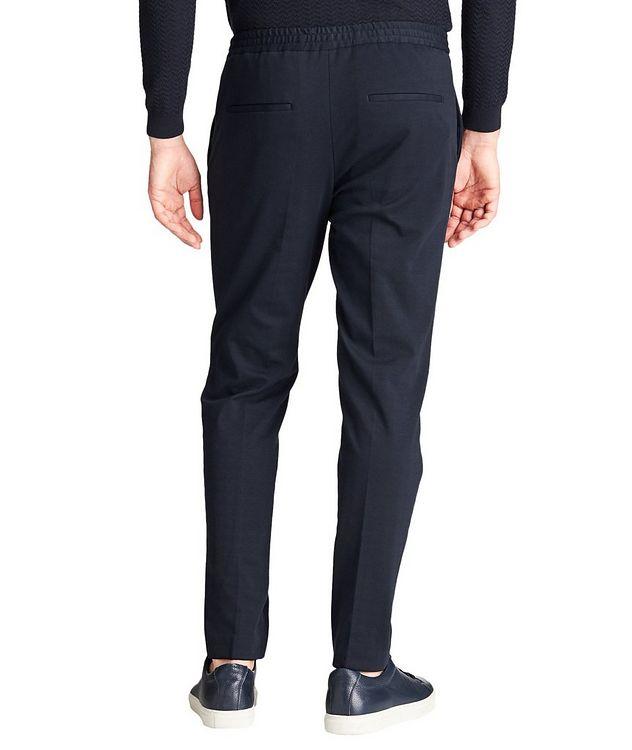 Drawstring Cotton-Blend Dress Pants picture 2