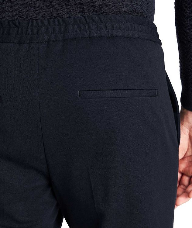 Drawstring Cotton-Blend Dress Pants picture 3