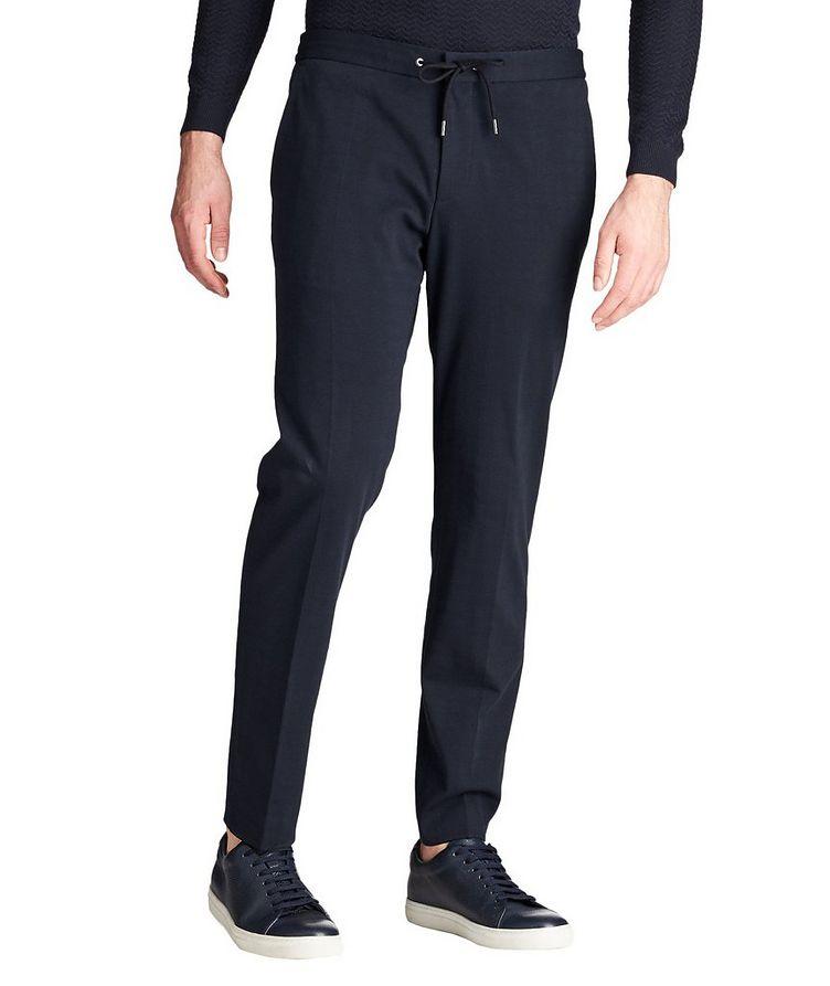 Drawstring Cotton-Blend Dress Pants image 0