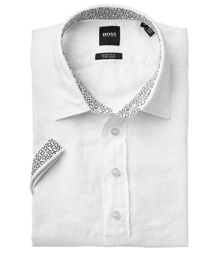 Short-Sleeve Linen Shirt image 1