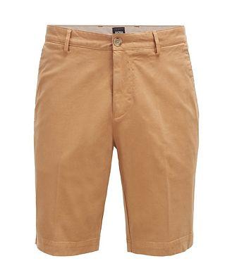 BOSS Slice Stretch-Cotton Shorts
